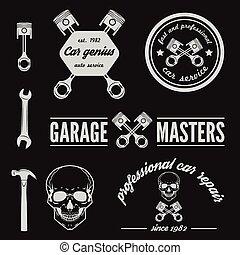 conjunto, de, logotipo, insignia, emblema, y, logotype,...