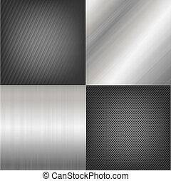 conjunto, de, metal, textura, plano de fondo