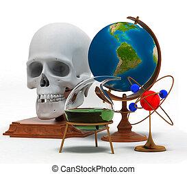 conjunto, de, objetos, eso, simbolizar, conocimiento, y, habilidades