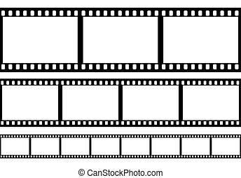 conjunto, de, película, marco, vector