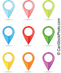 conjunto, de, redondo, color, indicadores