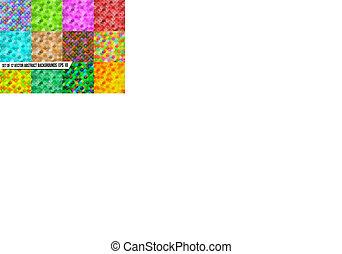 conjunto, de, resumen, colorido, fondos, colorido