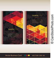 conjunto, de, resumen, geométrico, tarjeta comercial