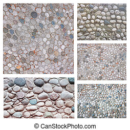 conjunto, de, resumen, piedra, plano de fondo