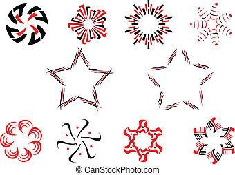 conjunto, de, símbolos