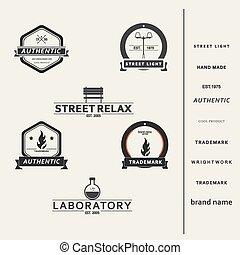 conjunto, de, simple, vector, elementos, para, diseño