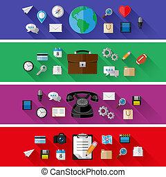 conjunto, de, tela, y, conceptos de la corporación mercantil