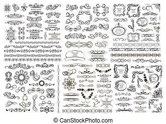 conjunto, de, vector, gráfico, elementos, para, diseño