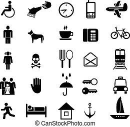 conjunto, de, vector, iconos