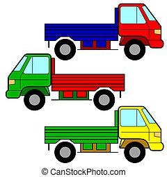 conjunto, de, vector, iconos, -, transporte, symbols.