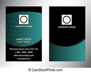 conjunto, de, vertical, tarjetas comerciales