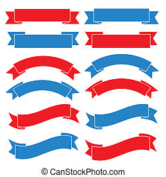 conjunto, de, viejo, bandera de la cinta