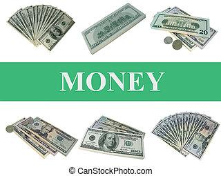 conjunto, dinero.