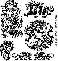 conjunto, dragón