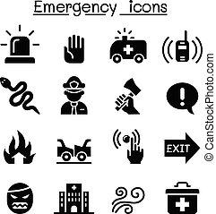 conjunto, emergencia, icono
