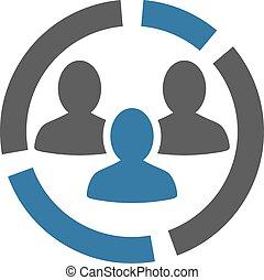 conjunto, empresa / negocio, bicolor, diagrama, demography, ...