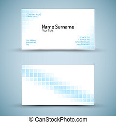 conjunto, empresa / negocio, moderno, vector, plantilla, tarjeta