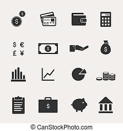 conjunto, finanzas, icono