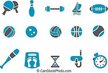 conjunto, icono, deporte