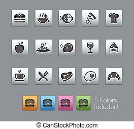 //, conjunto, iconos, alimento, -, satinbox, 1, 2