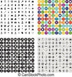 conjunto, iconos, variante, vector, partera , 100