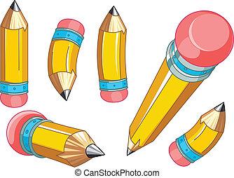 conjunto, lápices