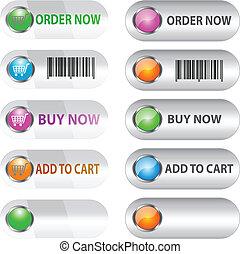 conjunto, label/button, ecommerce