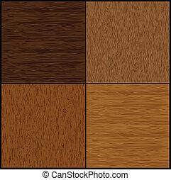 conjunto, madera, seamless, backgrounds., vector