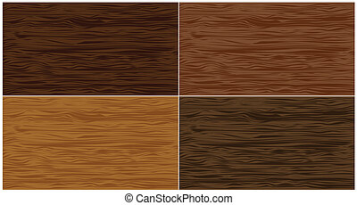 conjunto, madera, seamless, patterns., vector