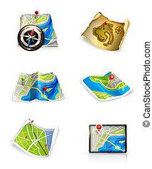 conjunto, mapas