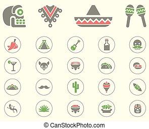 Conjunto, mexicano, icono