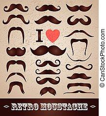 conjunto, moustaches
