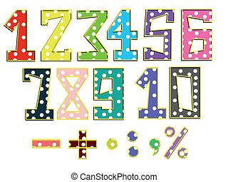 conjunto, números