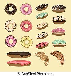 conjunto, pastel