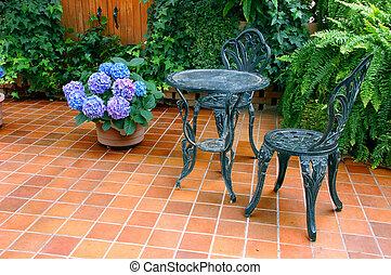 conjunto, patio