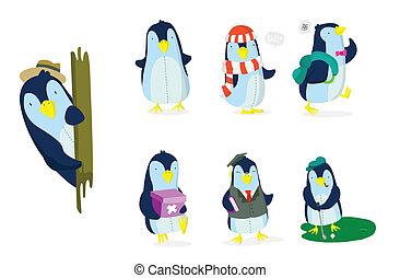 conjunto, pingüino