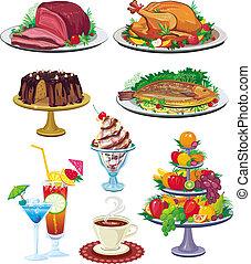 conjunto, platos