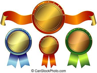 conjunto, premios, metálico