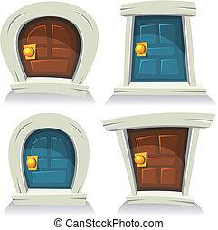 conjunto, puertas