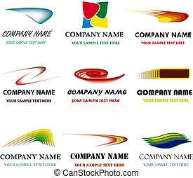 conjunto, sólo, name., branding, marca, vector, lugar,...
