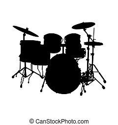 conjunto tambor, silueta