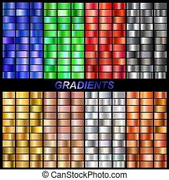 conjunto, vector, gradients