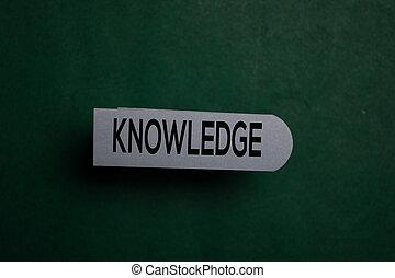 connaissance, collant, écrire, bureau, note, isolé, bureau