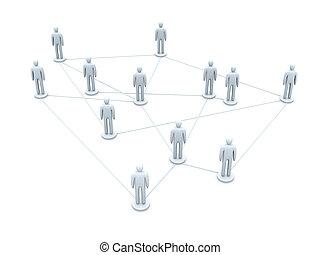 connecté, équipe