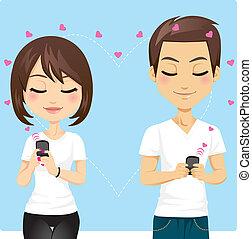 connecté, amour