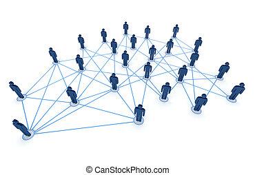 connecté, gens