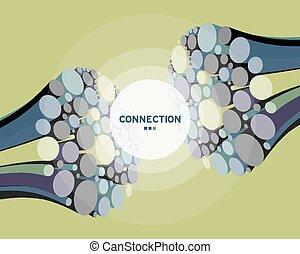 connect., fil, ficelle, résumé, fib, arrière-plan., optique...