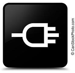 Connect icon black square button
