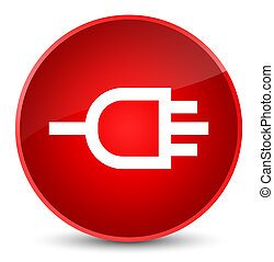 Connect icon elegant red round button
