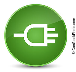 Connect icon elegant soft green round button
